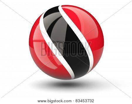 Round Icon Of Flag Of Trinidad And Tobago