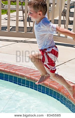 Running Jump Into The Pool