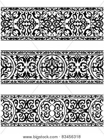 Decorative ornate vintage borders