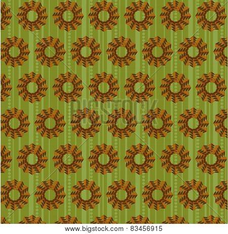 Natural, seamless pattern, retro style