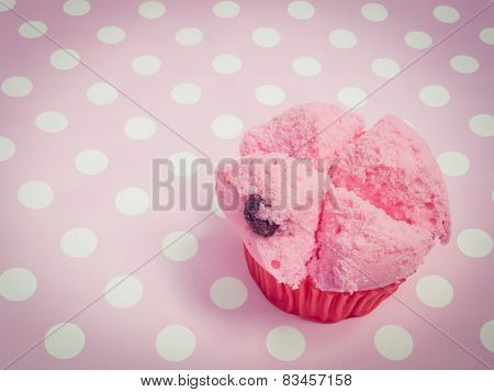 Pink Chinese Steamed Cup Cake