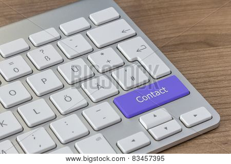 Contact On Modern Keyboard