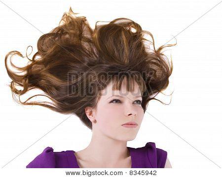 Bild von schöne Frau mit langen roten Haaren