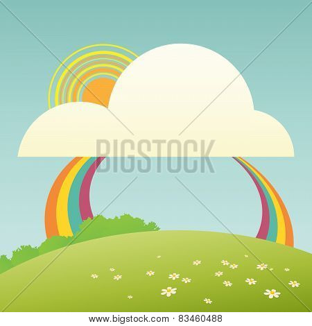 Cute Rainbow Cartoon