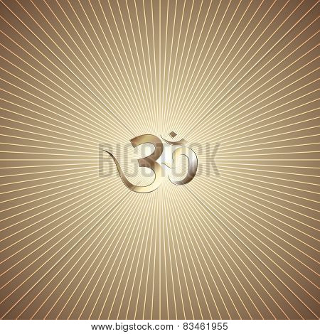 Vector abstract golden background with rays