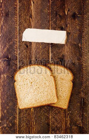 Poster With Two Slices Of Bread