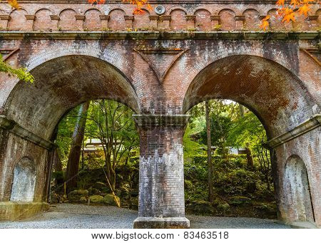 Aqueduct at Nanzen-ji Temple in Kyoto Japan