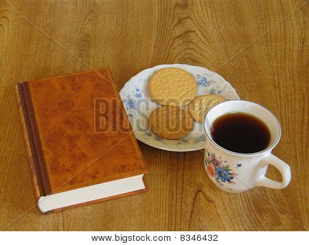 Tea, biscuits and a book