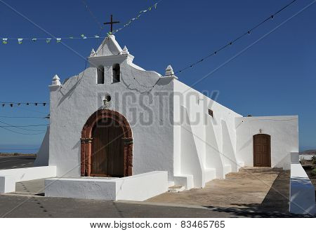 Church Of Nuestra Senora Del Socorro, Tiagua, Lanzarote Island, Canary Islands, Spain