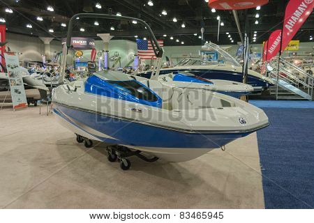 Scarab 165 Jet Boat On Display