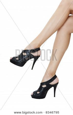 Nice Black Shoes And Long Legs