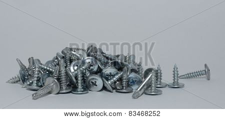 Screw on white background