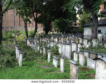 The Remuh Jewish Cemetery in Krakow Poland