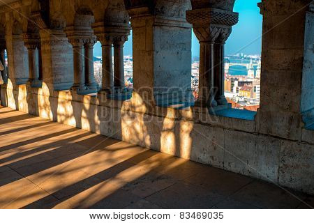 Fisherman's Bastion columns