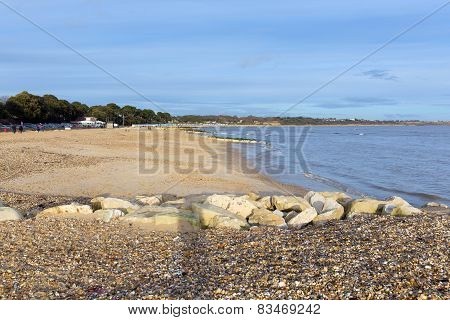 Mudeford beach near Christchurch Dorset England UK