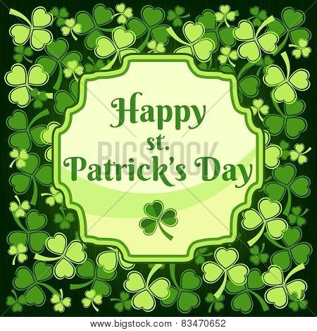 Saint Patricks Day Label