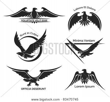 Set of eagle logo