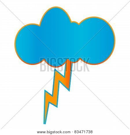 Creative geometric thunderstorm icon