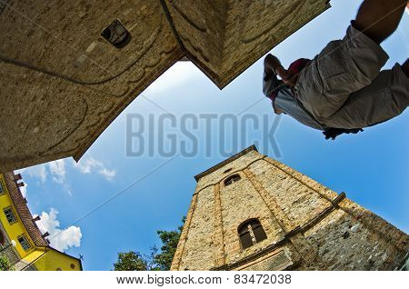 Architecture and towers of 13th century Ra?a monastery