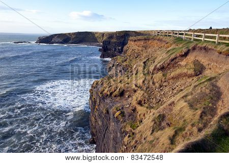 The Fenced Path Along The Cliff Edge