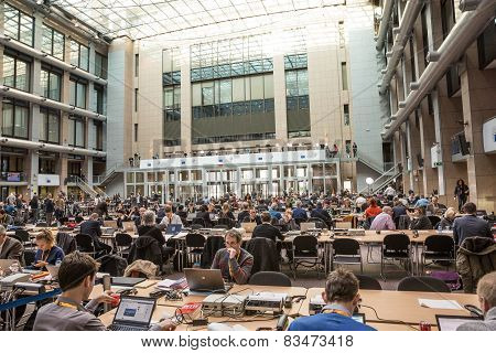 Press Center At The Informal Eu Summit In Brussels
