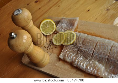 Fillet Of Fish. Dish, Main Dish. Fasting Food Seasoning