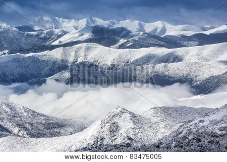 View Mountain Snow Landscape