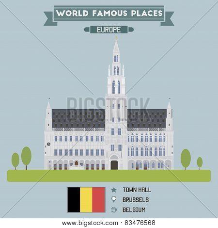 Town Hall. Brussels, Belgium