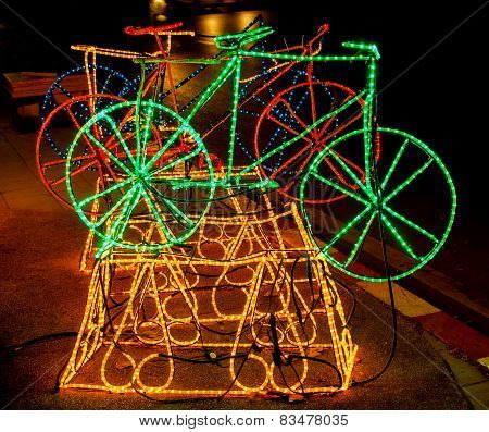Bicycle Made Up Of Led (light Emitting Diode)
