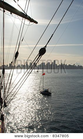 Russian tall ship in Vancouver, Canada