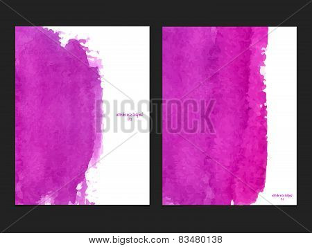 Vector Background With Watercolor Pink.