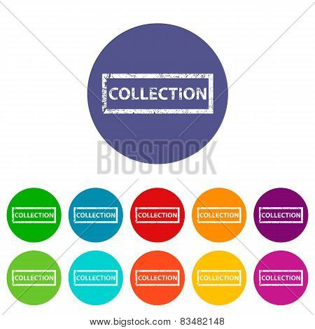 Collection flat icon