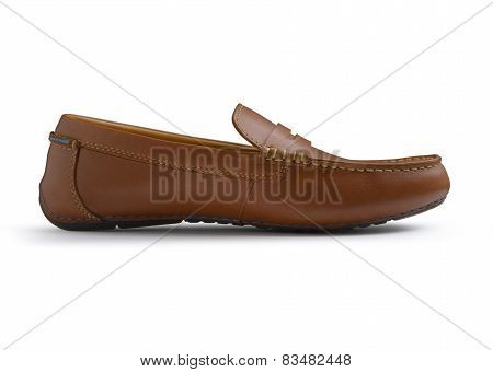 Brown Casual Male Shoe