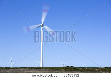 Wind park on the island of Madeira, Portugal
