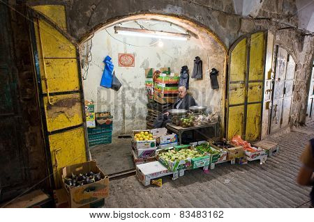 Greengrocer's Shop In Hebron