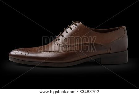 Fashion Classic Male Shoe On Black