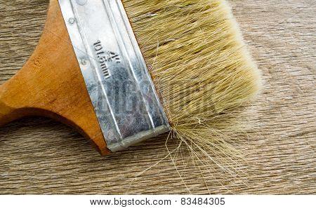 Coating brush nap as a background