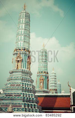 Wat Phra Kaeo, Temple Of The Emerald Buddha Bangkok, Asia Thailand