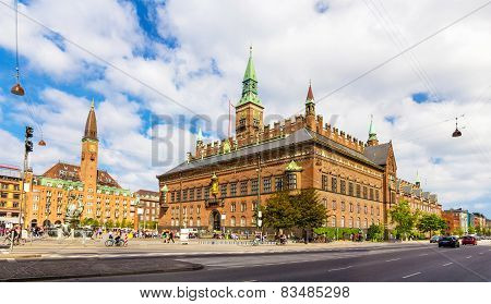 View Of Copenhagen City Hall, Denmark
