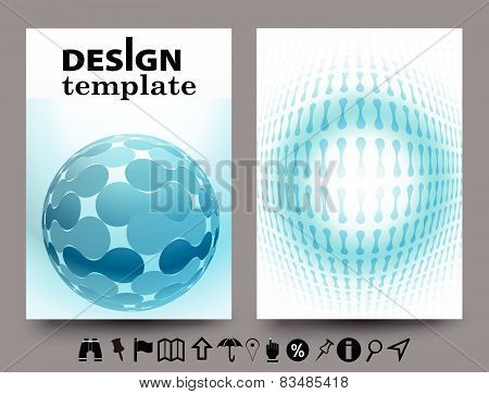 Brochure Design Templates With Geometric