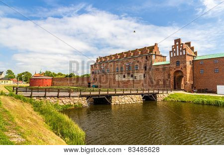 Walls Of Malmo Castle In Sweden