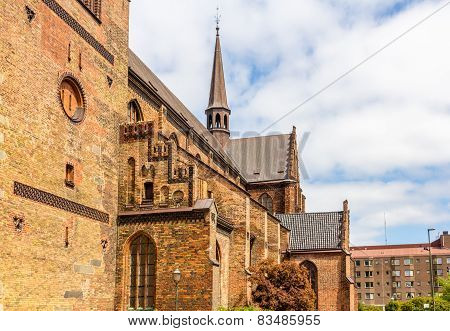Details Of St Petri Cathedral In Malmo, Sweden