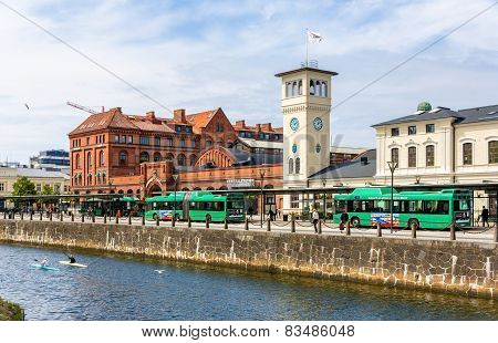 Malmo, Sweden - May 31: View Of The Central Railway Station On May 31, 2014 In Malmo, Sweden. The St