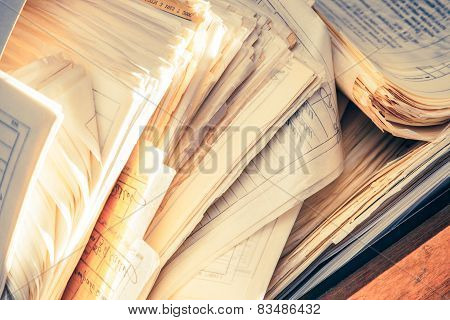 Dirty Messy Paper Documents