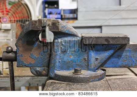 Old Rusty Industrial Vice