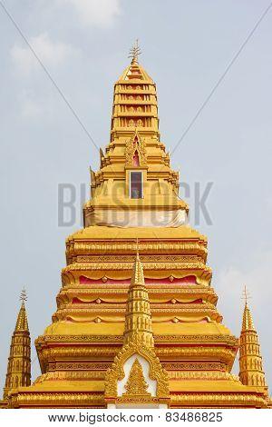 Top Part Of Golden Pagoda