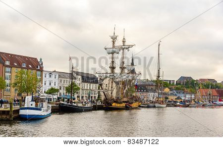 View Of Seaport In Flensburg, Germany