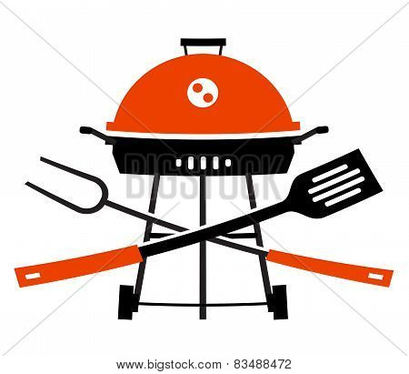 barbecue, barbeque, grill, picnic. utensils for BBQ on white background