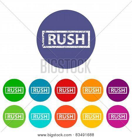 Rush flat icon