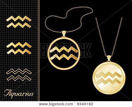 Aquarius Medallion & Pendant